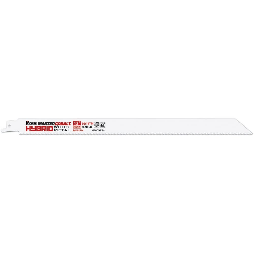 "Wood & Metal Cutting - 300mm (12"") -  10TPI Master Cobalt Reciprocating 0.9mm (.035"") Saw Blade"