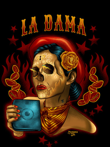 La Dama Dark short sleeve t-shirt