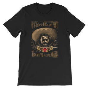 Zapata Black Unisex short sleeve t-shirt