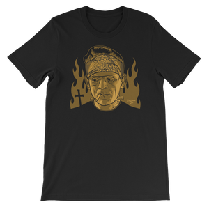 frankenstein Cholo Mono Dark Gold Unisex short sleeve t-shirt
