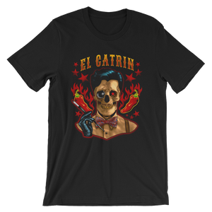 El Catrin Black Unisex short sleeve t-shirt