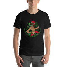Mexican Wrestler Black Unisex short sleeve t-shirt