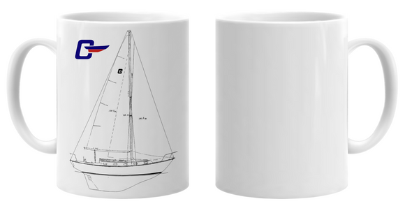 Cape Dory 33 Sailboat Mug
