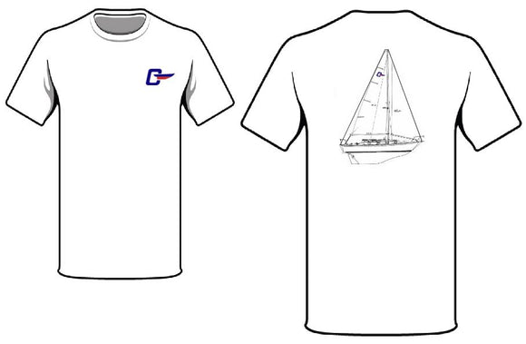 Cape Dory Line Drawing T-Shirts (All Models)