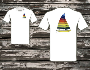 Hobie Cat Line Drawing T-Shirts