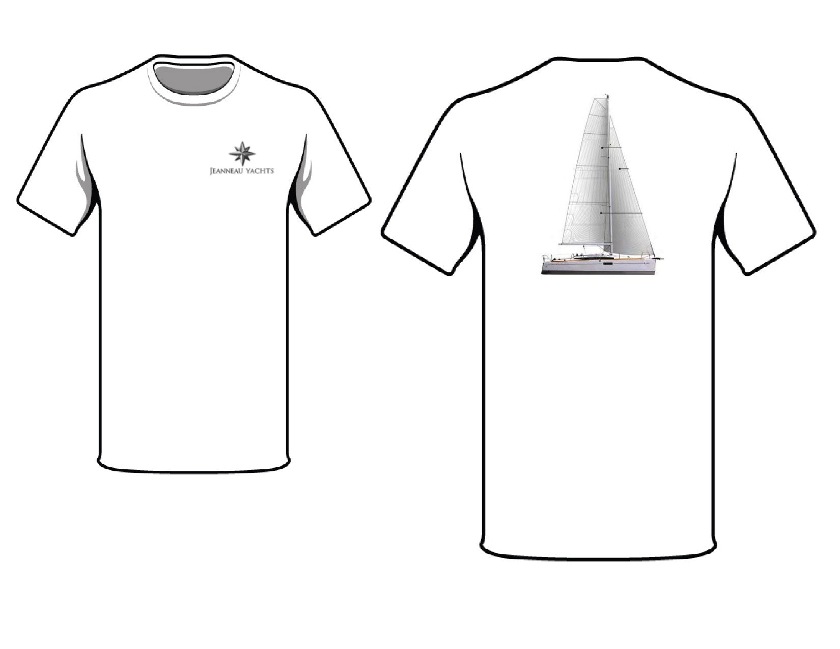 Jeanneau 349 Square top mainsail T-Shirt