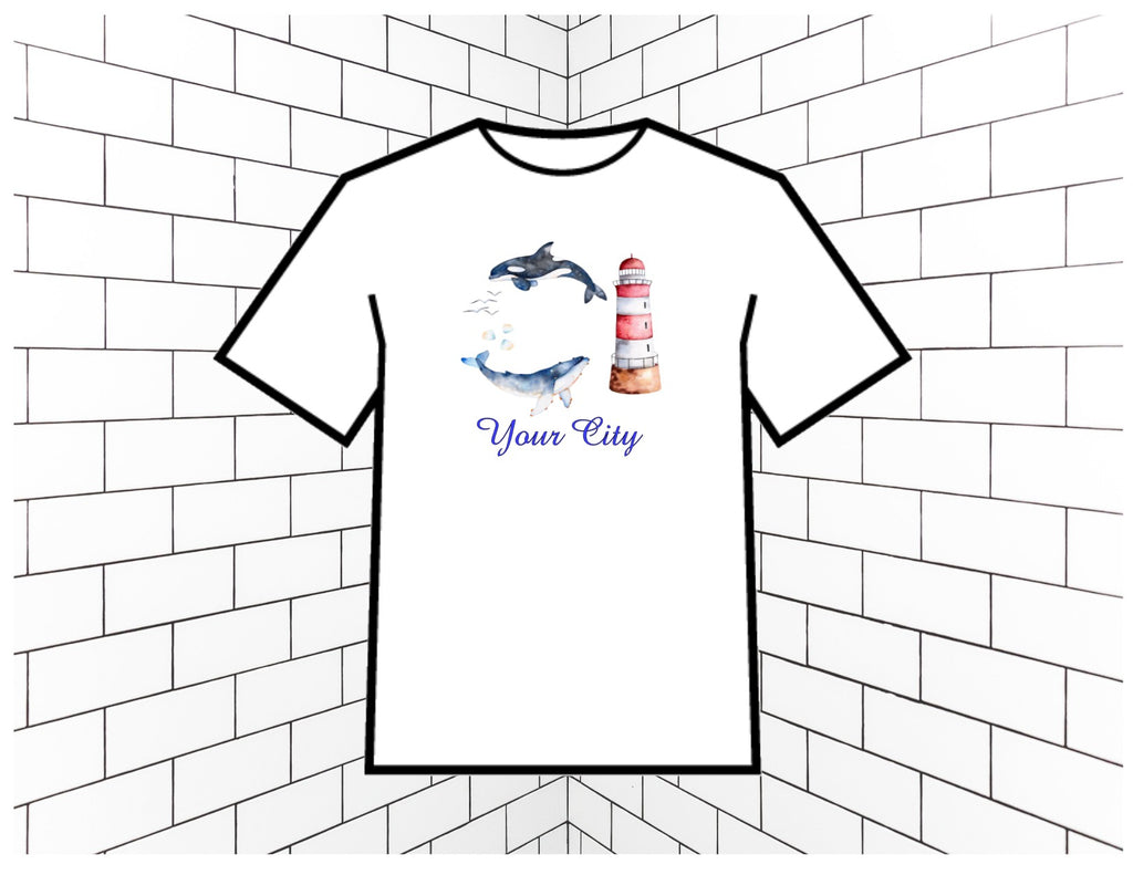 A City Lighthouse Custom T-Shirt