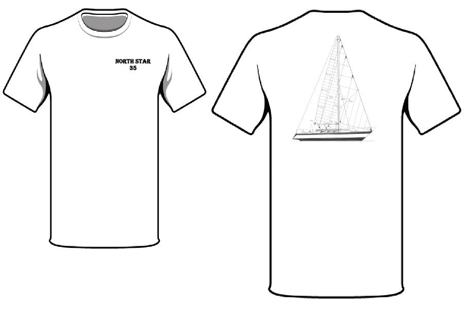 North Star 35 Sailboat T-Shirt