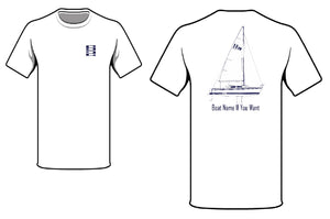 S2 Yachts Line Drawing T-Shirt