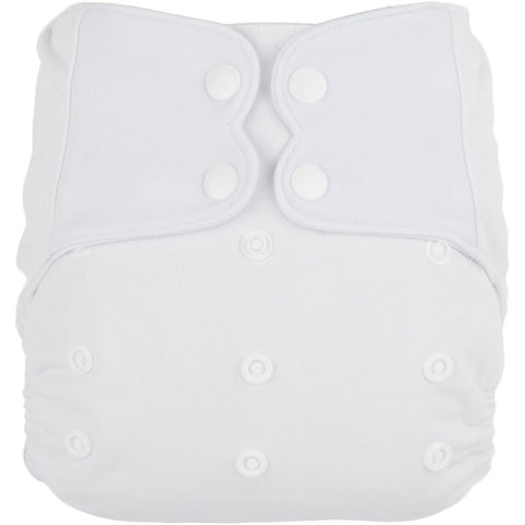 Elf AIO Solid Diaper - White