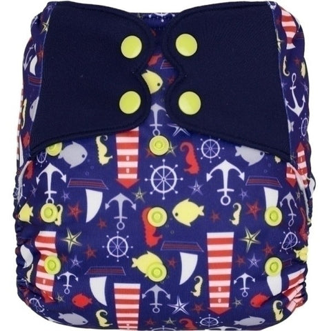Elf Snap Pocket - Blue Nautical