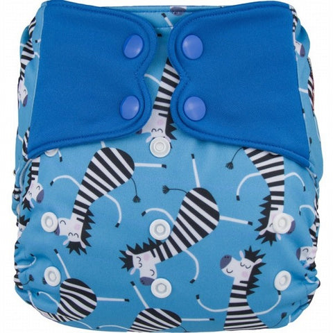 Elf AIO Diaper - Blue Zebra