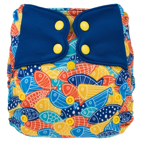 Elf AIO Print Diaper w pocket - Fish