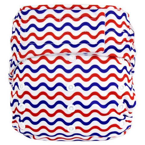 Elf Velcro OS Pocket - Red White Blue Waves