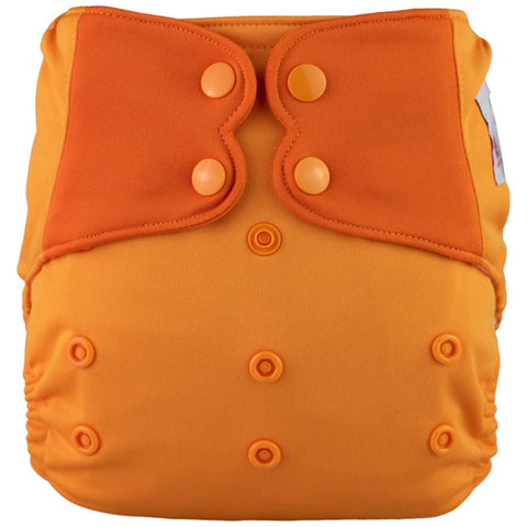 AIO Solid Diapers w pocket - ORANGE
