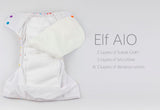 Elf AIO Diaper - White Bear