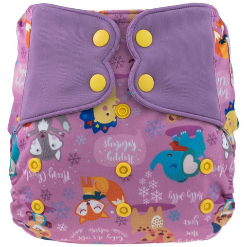 Elf AIO Diaper - Purple Fox