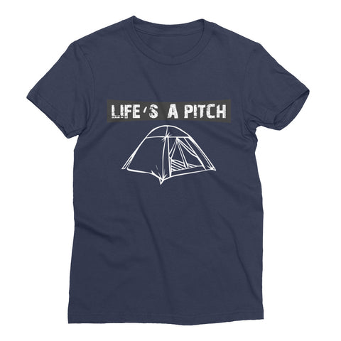 Life's A Pitch Women's Short Sleeve Tee (USA)