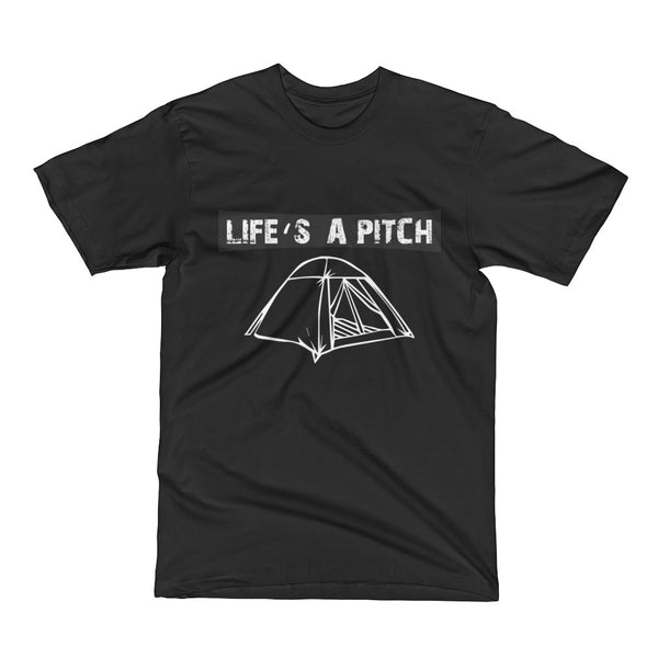 Life's A Pitch Men's Short Sleeve T-Shirt (USA)