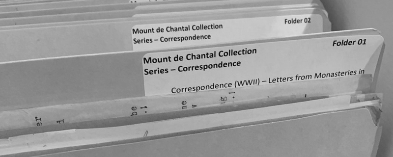 Introducing the Mount de Chantal Archives