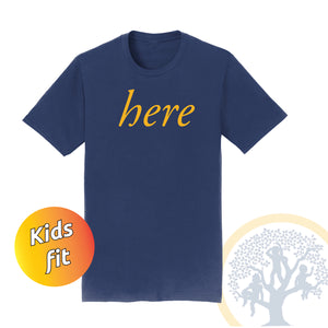 WCDS Here - Kids T - Navy