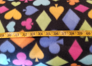 Poker Black Polar Fleece Fabric