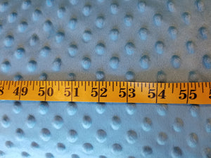 Aqua Blue Minky Dot Fabric