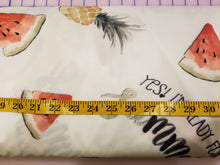 Load image into Gallery viewer, Pineapple And Watermelon PUL Fabric
