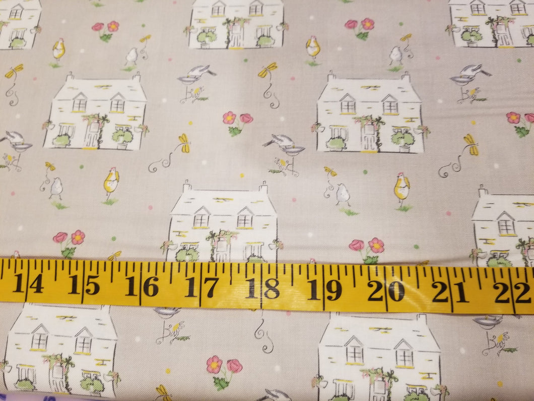 The Craft Cotton Company Cottage Garden - Yellow