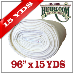 "Heirloom 80/20 Premium 96"" x 15 Yards Batting"