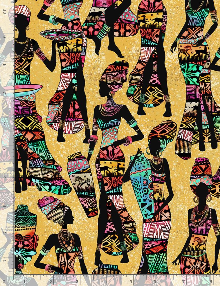 Timeless Treasures African Prints African Ladies