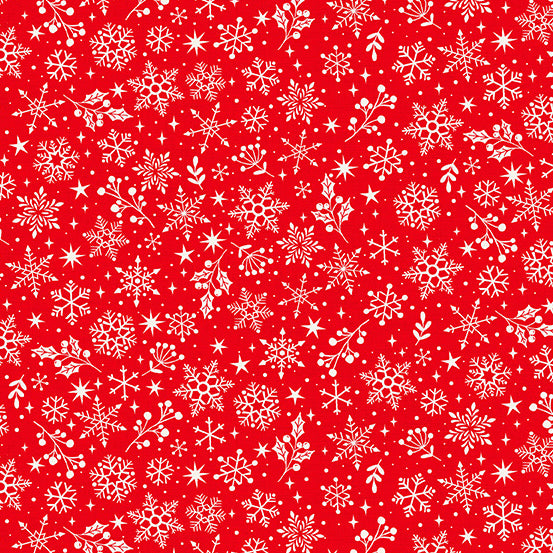 Andover Scandi 2020 Snowflakes - Red