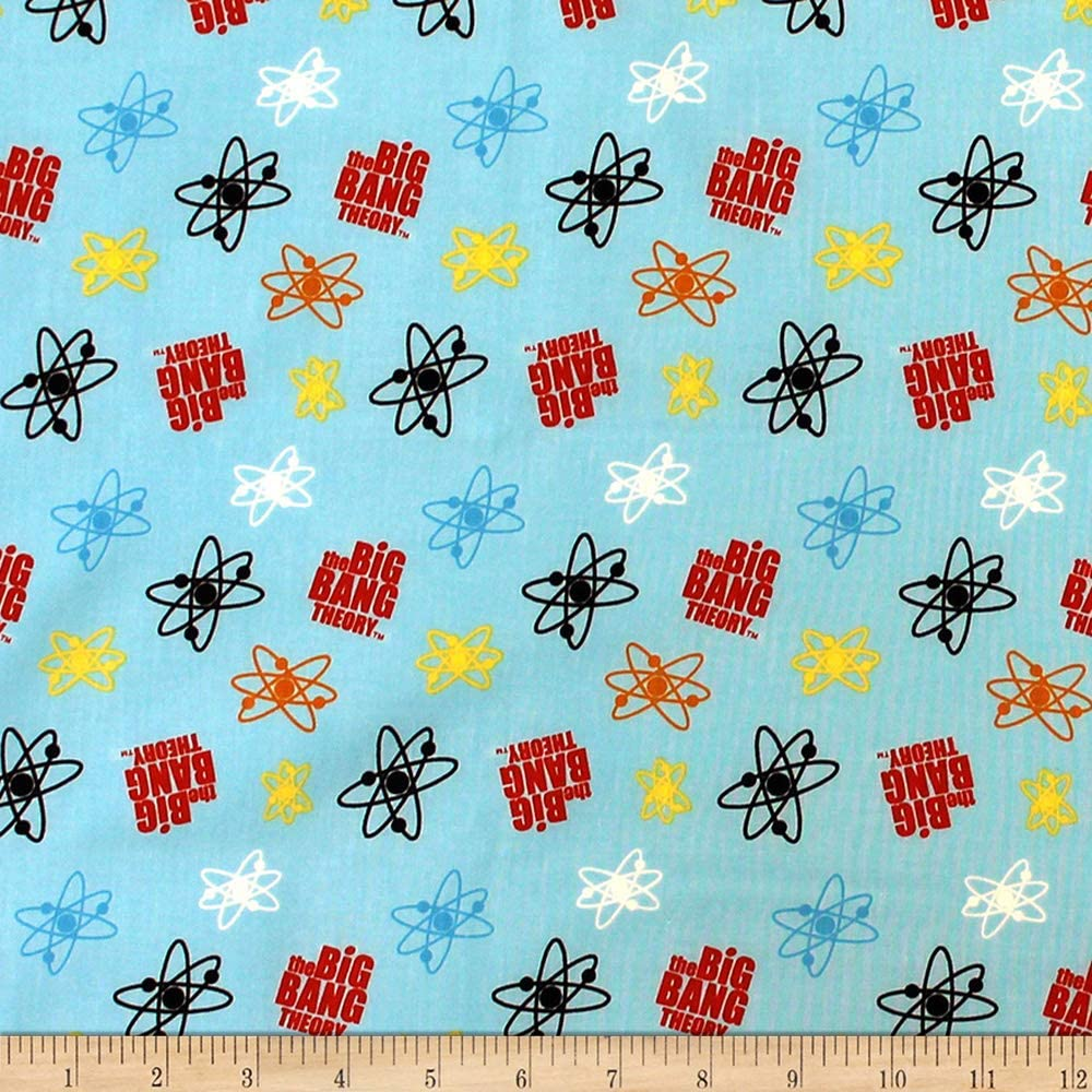 Camelot The Big Bang Theory Atoms Fabric - Blue