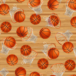 Blank Quilting Love Of The Game Basketball Nets