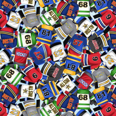 Blank Quilting Love Of The Game Hockey Jerseys