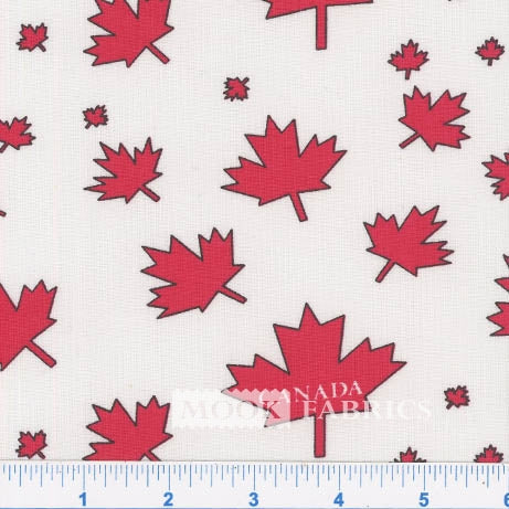 Canada Day Maple Leaf Fabric