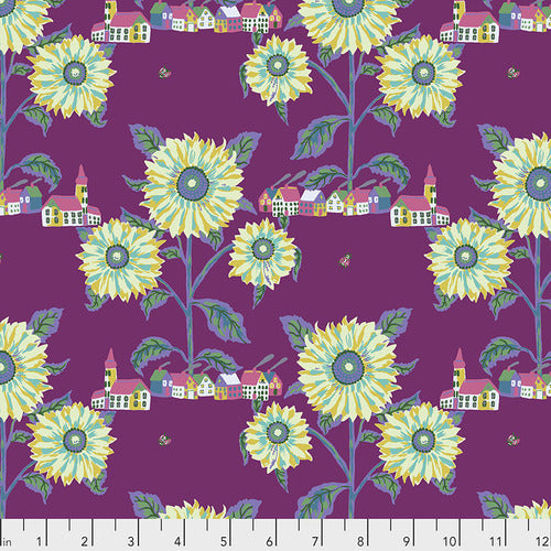 Souvenir Sunny Village Quilting Cotton - Aubergine