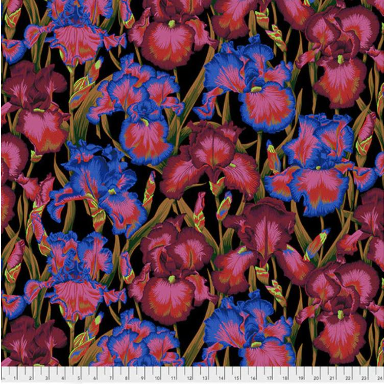 Kaffe Fassett Collective Bearded Iris Fabric - Dark
