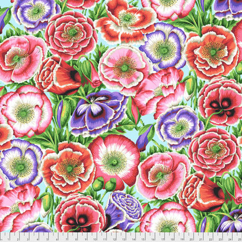 Kaffe Fassett Collective Poppy Garden Pink Fabric