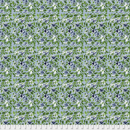 Free Spirit Georgia Blue Sprinkler Fabric - Navy