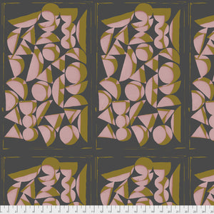 Vestige Shapes Rose Quilting Fabric