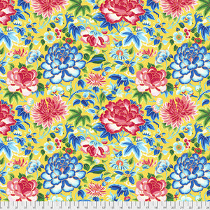 Silk Road Ming Embroidery Fabric - Yellow