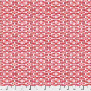 Tula Pink True Colours Hexy Fabric - Flamingo