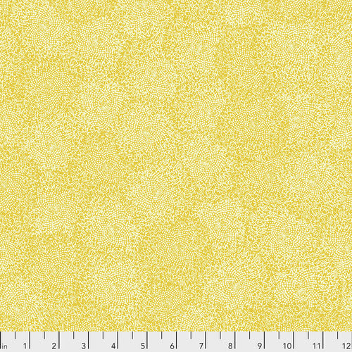 Free Spirit Murmur Centers Quilting Cotton - Gold