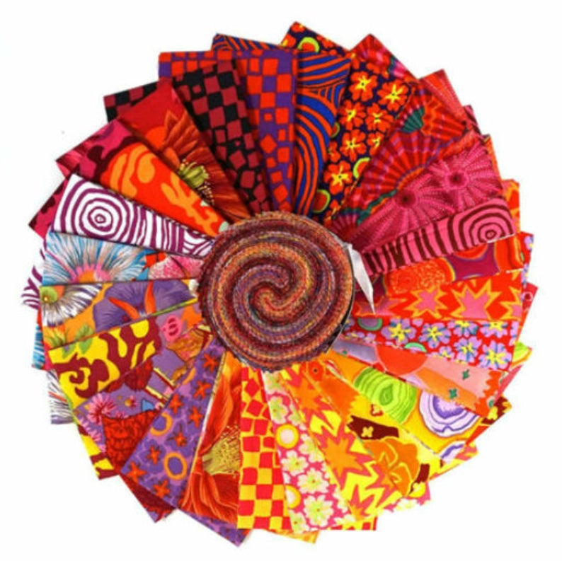 Kaffe Fassett Collective Classics 2019 Bright Jelly Roll