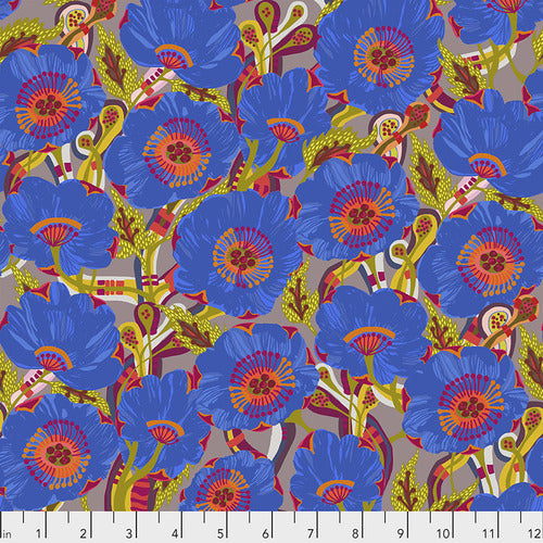 Vibrant Blooms Sunshine Bloom Blue Quilting Cotton