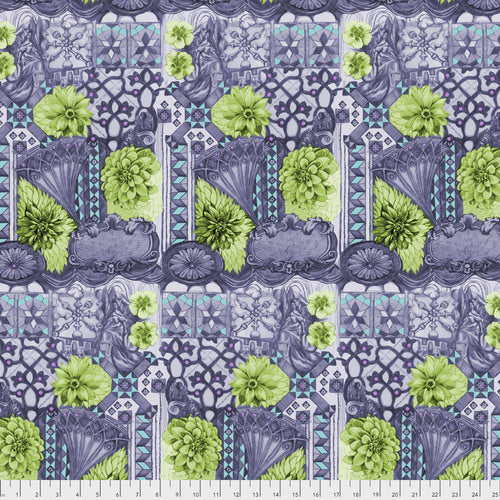 English Summer Tourist Peridot Quilting Cotton