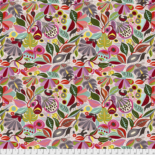 Vibrant Blooms In The Woods Quilting Cotton