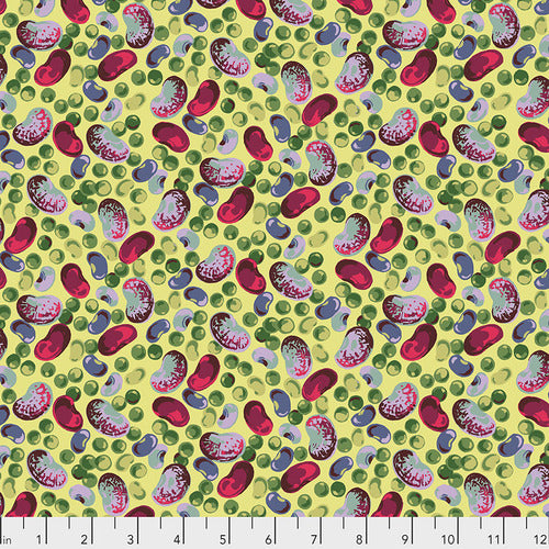 Free Spirit Veggies Peas & Beans Bright Quilting Cotton