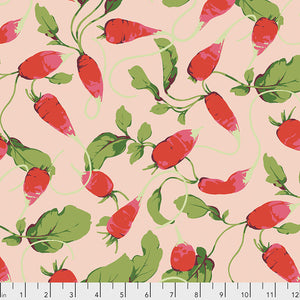 Free Spirit Veggies Radish Bright Quilting Cotton